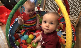 TWIN BABIES ARE PLAYMATES THAT LEARN FROM EACH OTHER
