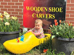 baby in a dutch shoe