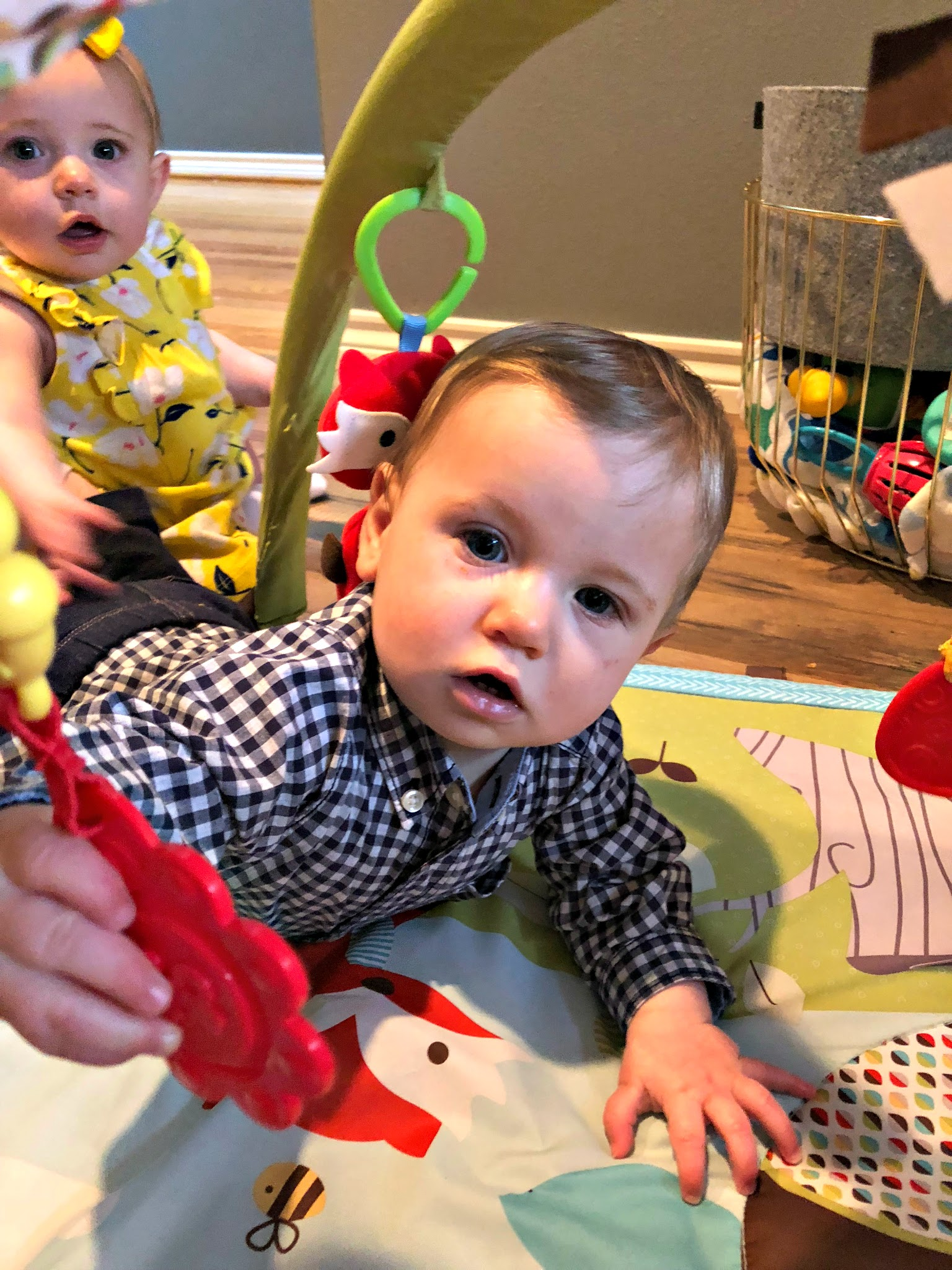 Babies Exploring