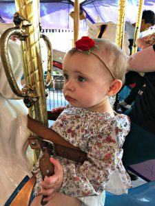 10 month old on carousel