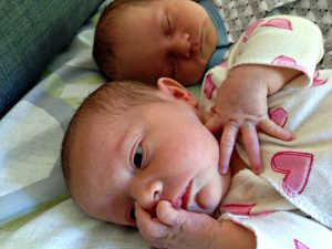 newborn brother and sister